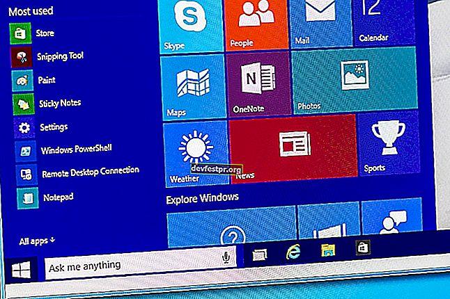 Windows 10 başlat düğmesi çalışmıyor