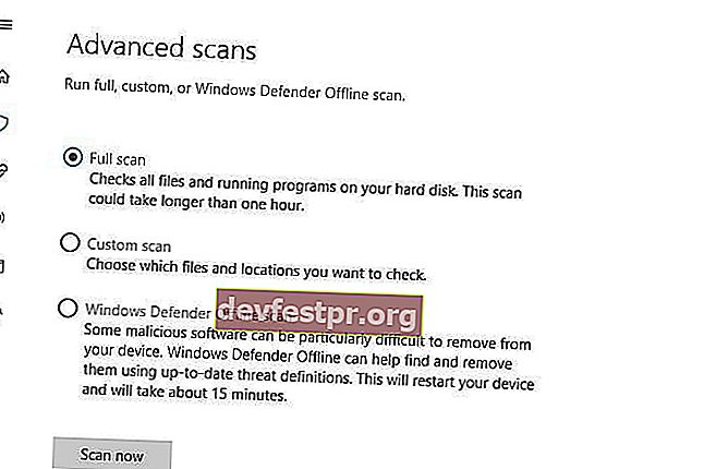 fix Critical Process Died full scan Windows Defender