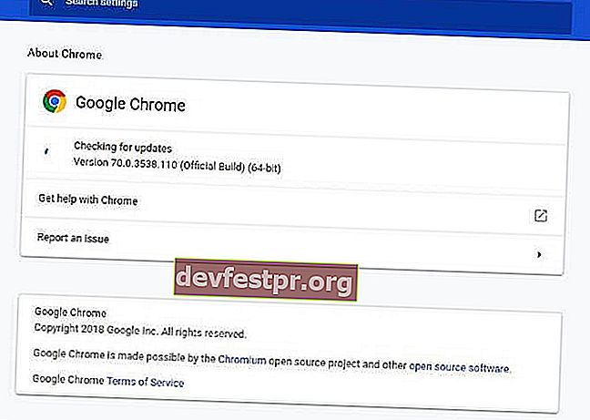 Sobre o Chrome